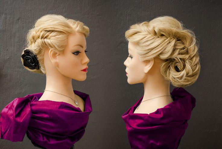 Creative hair updo by Puk, www.rockyourhair.dk  #hair #style #styling #updo #mua #denmark #randers