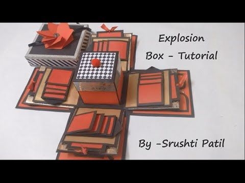 getlinkyoutube.com-Explosion box - Tutorial | Theme - Valentine/ Black and red | by Srushti Patil