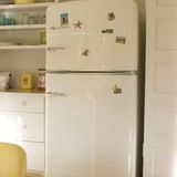 Like most people these days, we have stainless steel appliances in our kitchen. They were here when we moved in and I do like the way they look and actually find them relatively easy to maintain and clean (Pledge is my go-to cleaner for the fridge, oddly). But recently I have been noticing some beautiful white kitchen appliances.