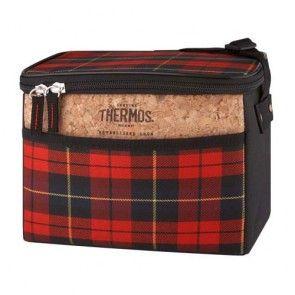 Insulated bag 135oz / 4L red plaid
