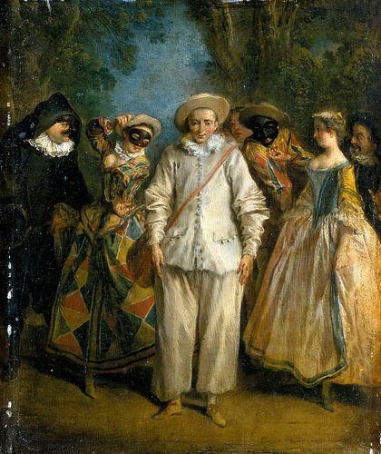 Nicolas Lancret - Commedia dell'Arte Players