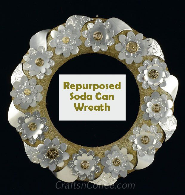 Making Flowers From Soda Cans | How to make recycled soda can flowers for a spring wreath