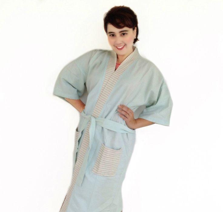 Organic 100 percent natural cotton handmade kimono style bathrobes. Get your own style before they sell out http://www.etsy.com/shop/AtSiam ::::: Accept on Paypal ::::: Shipping world wide #kimono #bathrobe #robe #home #bridesmaids #sleepingbeauty #beachwear #style #beauty #beachbody #cotton #Pajamas #interior #bedroom #waffle #women #men #handmade #artoftheday #design #Yukata #Room #clothing #bathroom #Atsiam #homedecor #wedding #etsy #Luxuryhome #dressinggown
