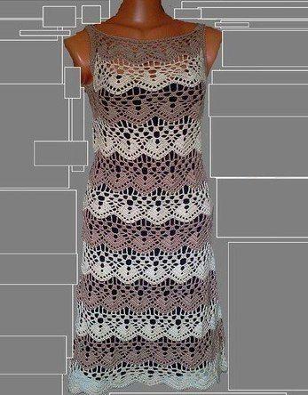 Очаровательное платье крючком