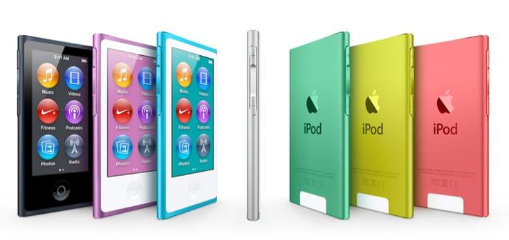 The new iPod Nano - pretty colors, bigger screen and more!