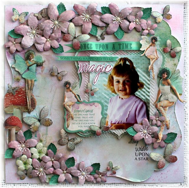 Layout created using the new Enchanted Garden paper collection, by Kaisercraft.