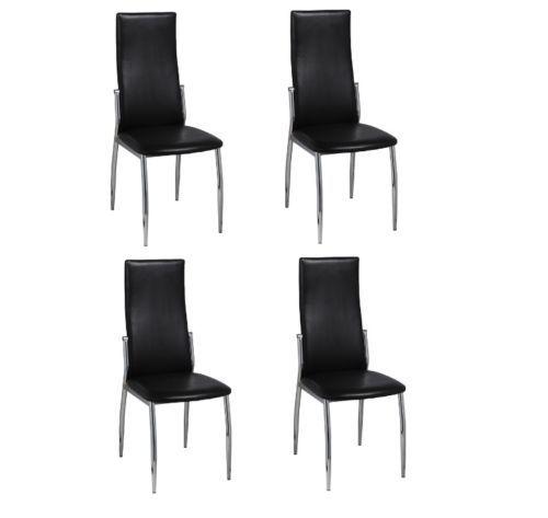 4 Esszimmerstühle Essgruppe Stuhlgruppe Sitzgruppe Küchen Stuhl Stühle schwarz #; EEK A+++sparen25.com , sparen25.de , sparen25.info