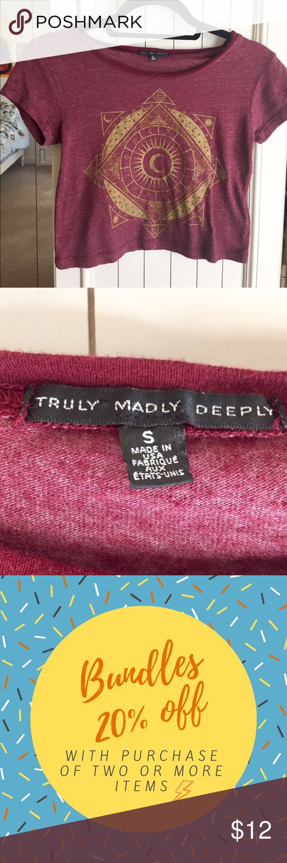 Truly madly deeply festival crop top Crop top with astrology design from urban outfitters brand truly madly deeply Urban Outfitters Tops Crop Tops