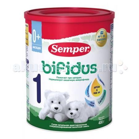 Semper Молочная смесь Bifidus Nutradefense 1 0-6 мес. 400 г  — 880р.   Semper Молочная смесь Bifidus Nutradefense 1 с пребиотиком и лактулозой и комбинацией компонентов MFGM&milk fat.  Особенности: содержит пребиотик лактулозу содержит MFGM и молочный жир содержит альфа-лактальбумин и ПНЖК ARA + DHA  нормализует работу пищеварительного тракта; помогает росту собственных полезных бифидобактерий кишечника; подавляет рост условно-патогенной флоры кишечника; улучшает всасывание кальция и магния…