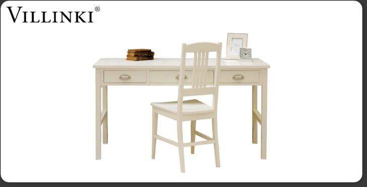 Villinki-työpöytä, 715 e (myös mustana) lev. 144 x syv. 64 x kork. 77 cm