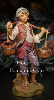 "5"" Fontanini Noah, Boy Carrying Buckets - House of Fontanini® - The Internets Most Complete Fontanini® Gift Store"