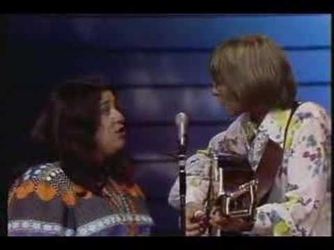John Denver & Cass Elliot - Leaving On A Jet Plane Two Angels now... gorgeous song.  I also love the PSR at the beginning of the importance of voting!