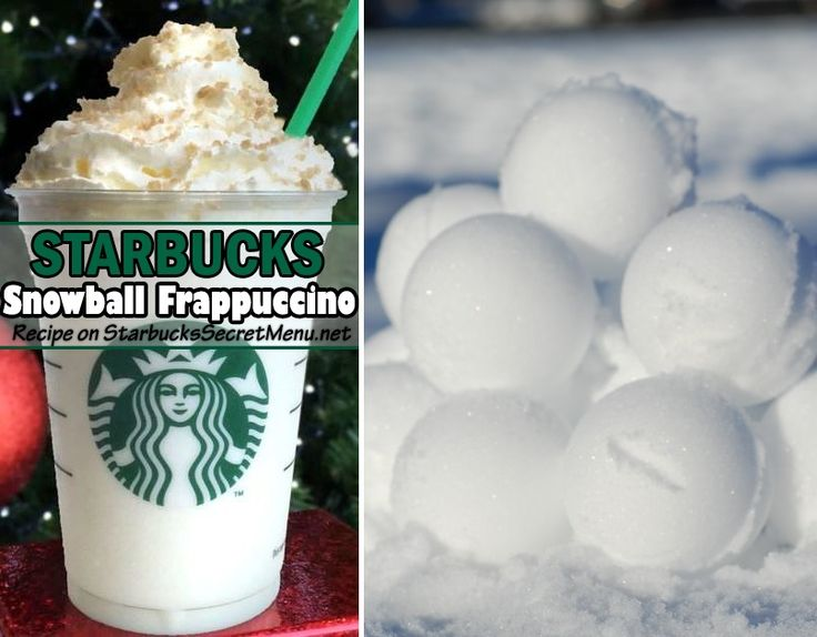 Snowball Frappuccino | Starbucks Secret Menu Here's the recipe: White Chocolate Creme FrappuccinoAdd toffee nut syrup (1 pump tall, 1.5 grande, 2 venti)Add hazelnut syrup (1 pump tall, 1.5 grande, 2 venti)Top with caramel brulée topping