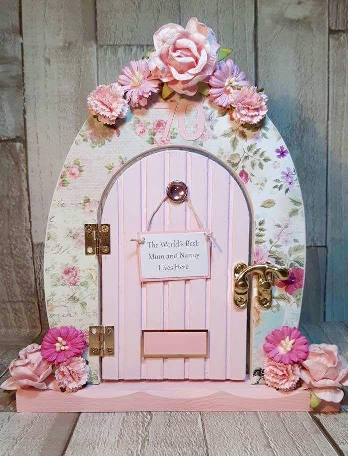 Pretty pink fairy door.
