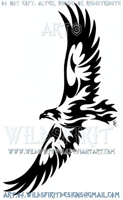 Soaring Eagle Tribal Design by WildSpiritWolf on DeviantArt