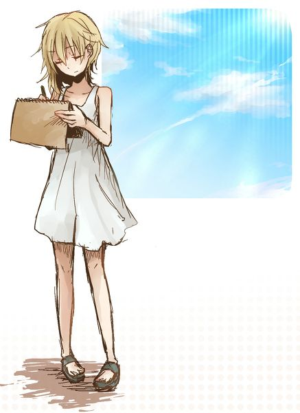 ADOPTED This is Namine. She loves reading and writing. She's more of the gentle and silent type. She has a dark past... Adopt?