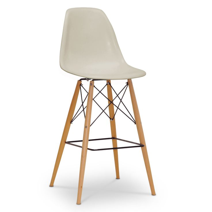 The retro simplicity of these classic white modern shell stools will instantly enhance the modernity of your room. Each of these mid-century modern bar stools is made from durable molded polypropylene plastic with an ergonomically-shaped curved seat.