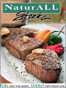The way to any man's heart is a ... giant steak! Send the best from NaturALL Steaks  #SendingAllMyLove @Catalogs