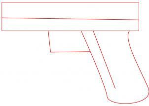 how to draw a glock 17 9mm hand gun step 1
