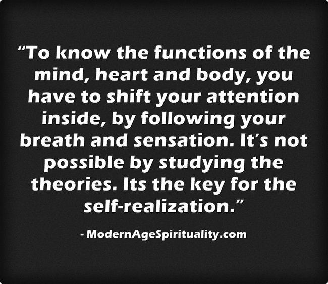 #Mind #Heart #Body #Attention #Breath #Sensation #Self-realization