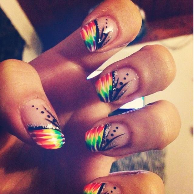 Ouulala: Amazing, Instagram Fashionistaaa, Nails Art, Wedding Nails, Awesome Nails, So Pretty, Ties Dyes, Sweet Nails, Rainbows Nails