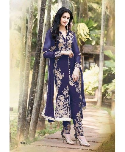 100% original salwar suits, Blue  designer dress material with amazing quality of material. Find now