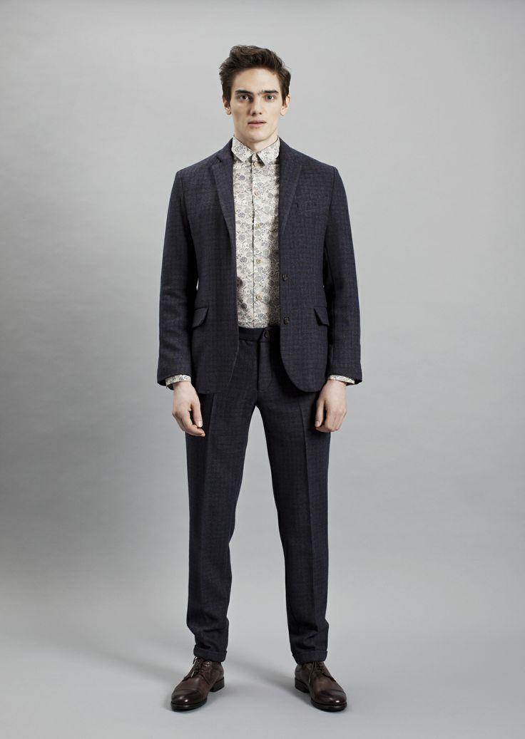Papito Blazer, Tela Shirt and Presley Trousers | Samuji Men Fall Winter 2014 Collection