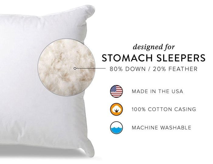 The Best Pillow For Stomach Sleepers Review And Buyer S Guide Best Down Pillows Pillow Reviews Down Pillows