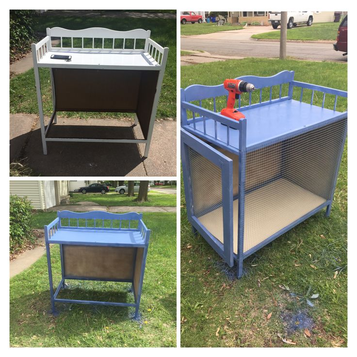 DIY Bunny Hutch from old changing table!