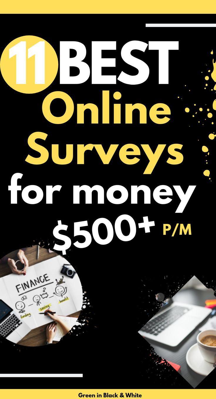 11 Best online Surveys for Money $500 per month – Making Money Blogging