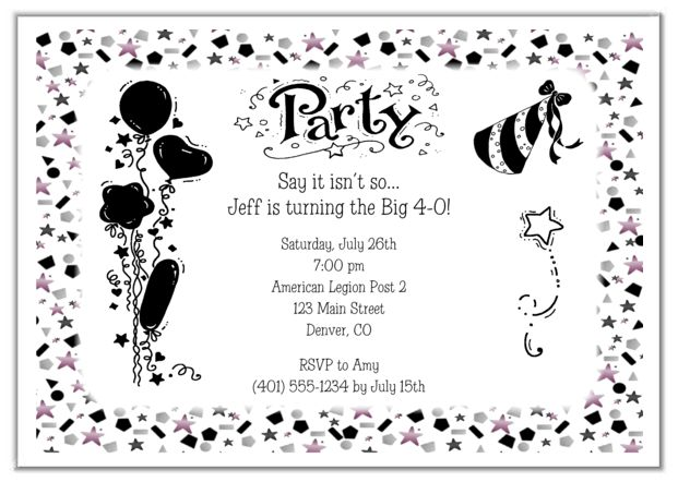18 best adult party ideas images on pinterest | adult party ideas, Birthday invitations