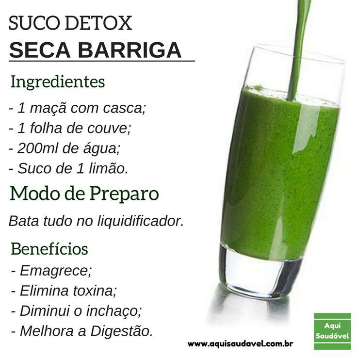 Suco Detox BARRIGA SARADA em 3 dias http://receitasfitnesssimples.com.br/