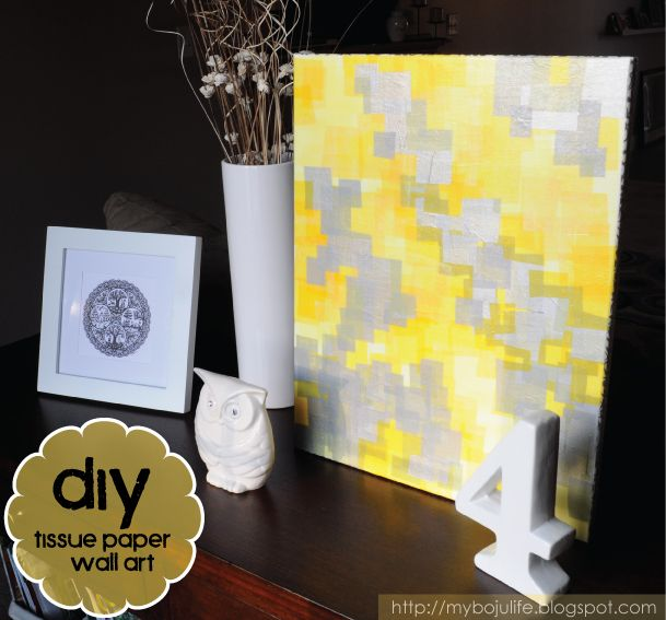 Diy Wall Art Tissue Paper : Best images about craft ideas on