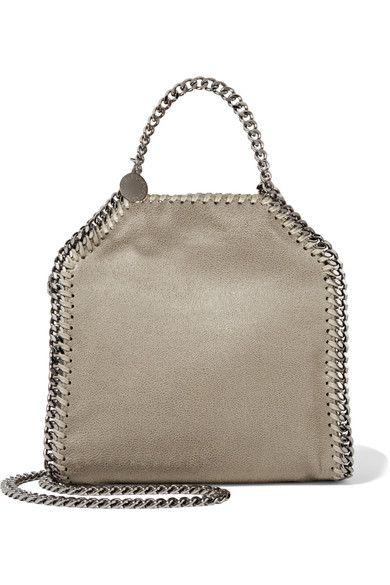 The Falabella tiny faux brushed-leather shoulder bag. Stella McCartney.