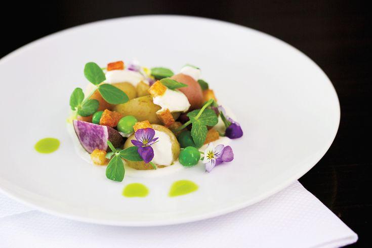 Warm Ricotta With Marble Potatoes And English Peas | Recipes | Recipes | Food Arts