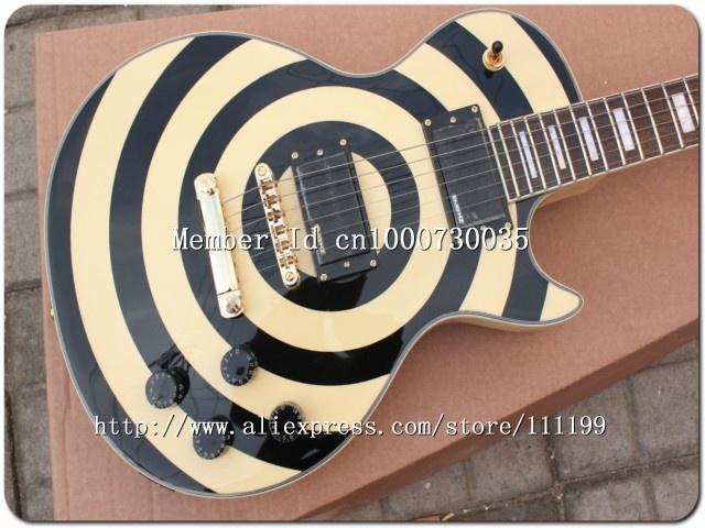 Aliexpress.com : Buy High Quality Zakk Custom Electric Guitar Bulls Eye in cream black Custom Guitars 08 from Reliable Custom electric guitar suppliers on 2thGuitar