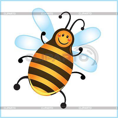 Смешные пчела в рамке | Векторный клипарт | ID 3079503