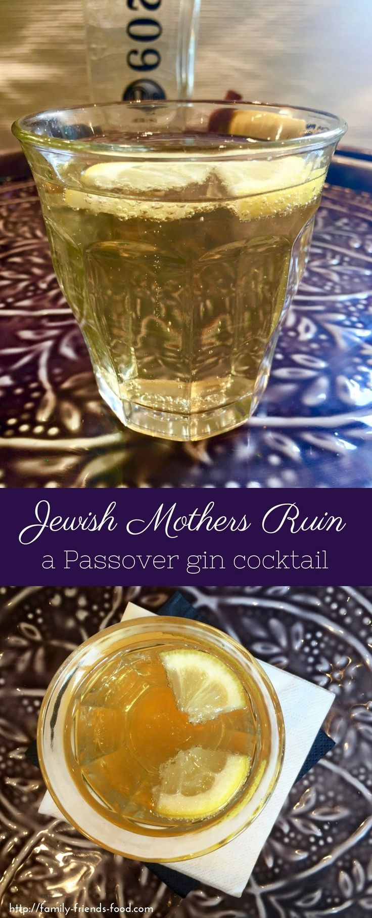 There really is a KOSHER FOR PASSOVER GIN! Time to mix yourself a well-earned cocktail. Jewish Mothers Ruin is the perfect tipple to relax with this Pesach. #passover #pesach #jewish #kosher