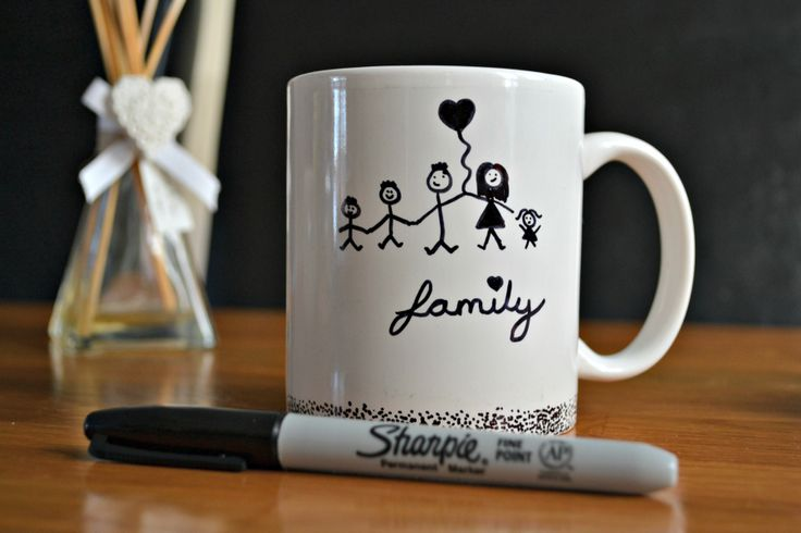 Sharpie Mug - DIY Marker Pen Design - How to do it! Leannes Blog Place
