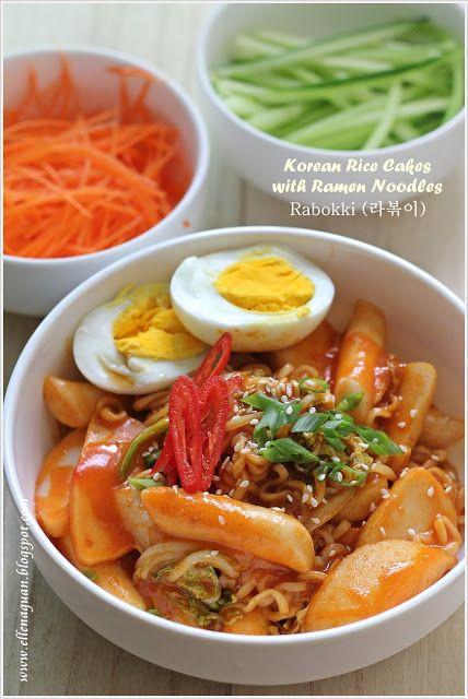 Korean Rice Cakes with Ramen Noodles ~ Rabokki (라볶이) Rabokki (라볶이)