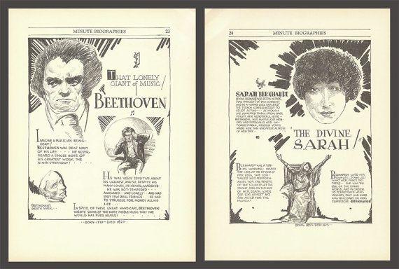 Beethoven Print Educational Poster Historical by DigitalArtLand