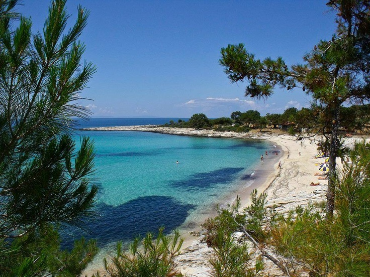 Psili Ammos beach in Thassos, Greece