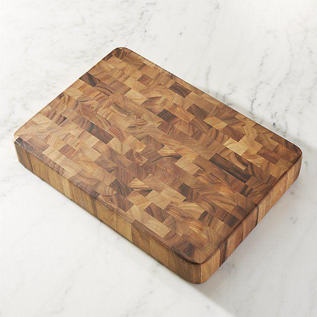 Rectangular End Grain Cutting Board | Crate and Barrel