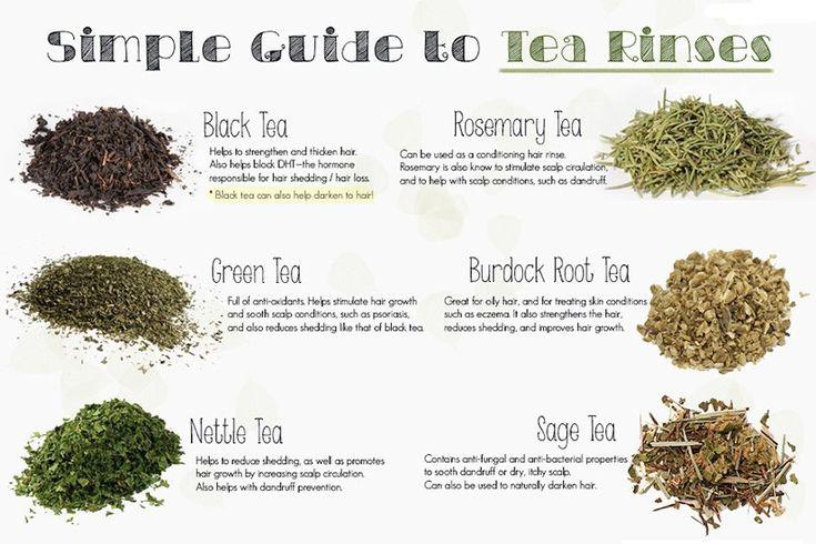 Tea Rinses For Your Hair | #Haircare #Beauty