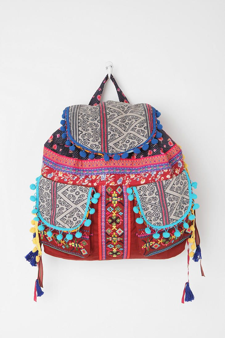 Ecote Geo Pompom Backpack Hippie Chic Pinterest Bags Backpacks And Fashion