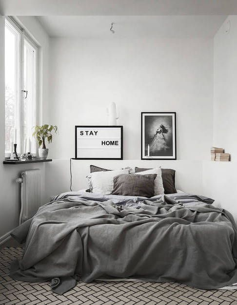 Bedroom Ideas Grey best 25+ monochrome bedroom ideas only on pinterest | black white