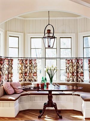 Let The Outdoors In With Short Sweet Curtains Kitchen Nookkitchen Ideaseat