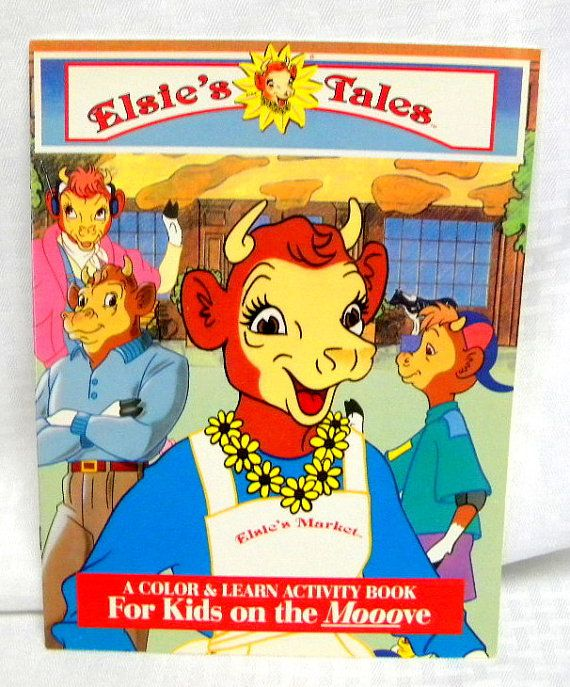 Elsie the Cow | Elsie the Cow coloring book and paper dolls by TreasuresFromTexas