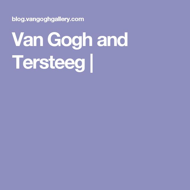 Van Gogh and Tersteeg |
