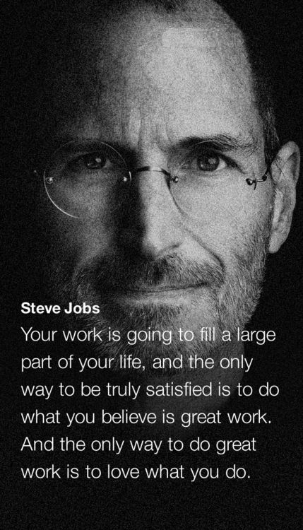 Image result for your work will be a large part of your life Steve Jobs